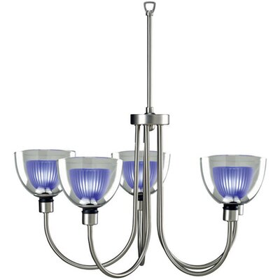 Patience 5-Light Shaded Chandelier Finish: Blue