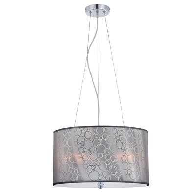 Anabel 3-Light Drum Pendant
