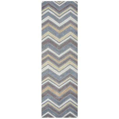 Eilidh Hand-Tufted Gray Area Rug Rug Size: Runner 26 x 8