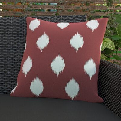 Jaclyn Geometric Print Outdoor Throw Pillow Size: 20 H x 20 W x 1 D, Color: Burnt