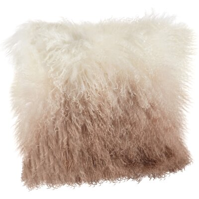 Blankenship Wool Lumbar Pillow Color: Natural
