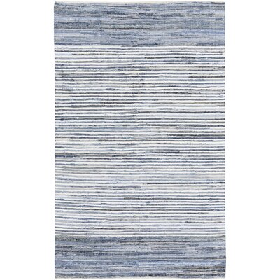 Audriana Hand-Woven Cotton Sky Blue Area Rug Rug Size: Rectangle 2 x 3