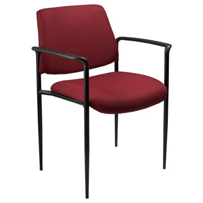 Aliza Stackable Guest Chair Seat Finish: Burgundy Fabric