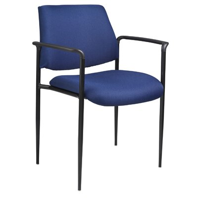 Stackable Guest Chair Seat Finish: Blue Fabric