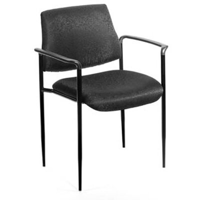 Stackable Guest Chair Seat Finish: Black Fabric
