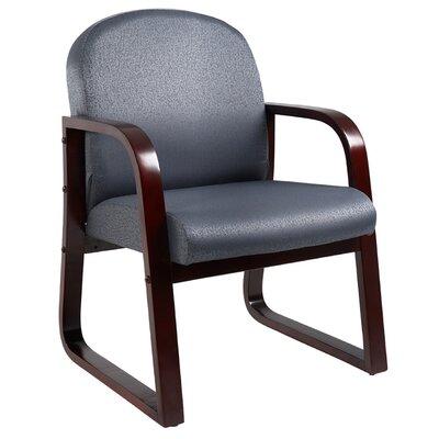 Evalyn Reception Arm Chair Fabric: Gray, Finish: Mahogany