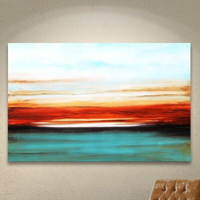 'Sunset' Painting Print on Wrapped Canvas