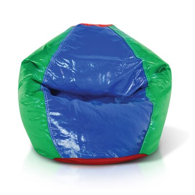 Double Zipper Bean Bag Chair Upholstery: Blue / Green