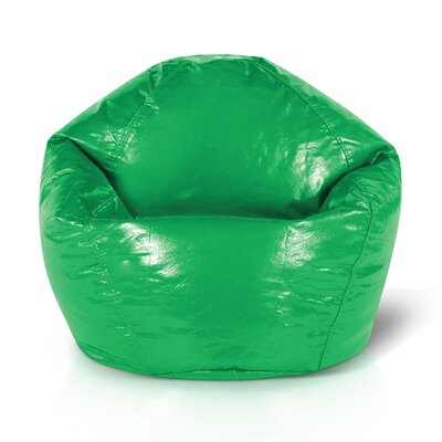 Double Zipper Bean Bag Chair Upholstery: Green