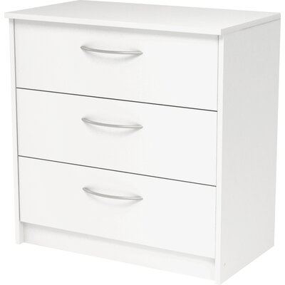 Karis 3 Drawer Chest Finish: Antique White