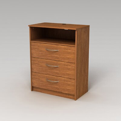 Karis 3 Drawer TV Chest Finish: Bank Alder