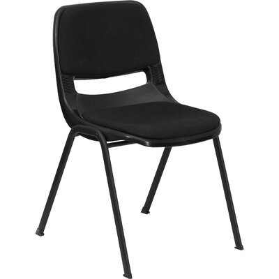 Flora Ergonomic Shell Stack Guest Chair Seat Finish: Black with Padded Seat and Back