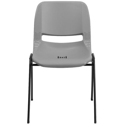 Flora Ergonomic Shell Stack Guest Chair Seat Finish: Gray