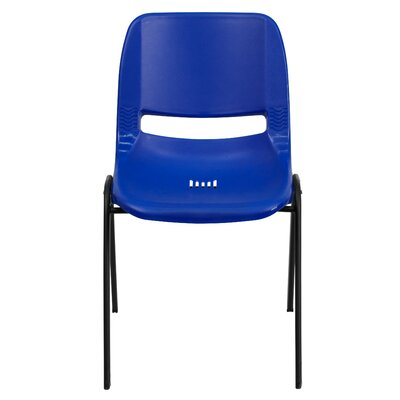 Flora Ergonomic Shell Stack Guest Chair Seat Finish: Blue