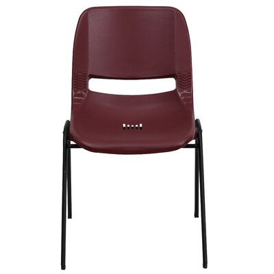 Flora Ergonomic Shell Stack Guest Chair Seat Finish: Burgundy