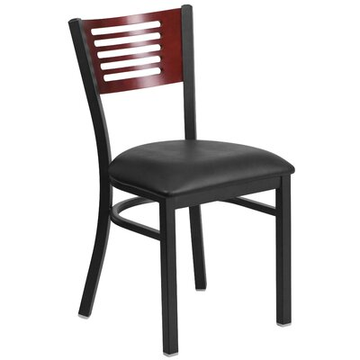 Hera Side Chair Seat Color: Black