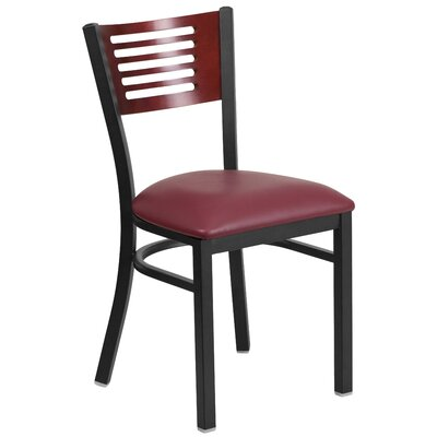 Hera Side Chair Seat Color: Burgundy