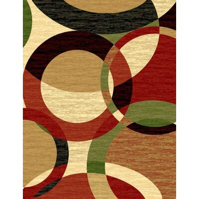 Aguirre Abstract Black Rust Area Rug Rug Size: Rectangle 5 x 7