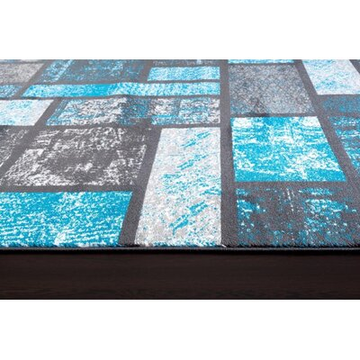 Emmaline Modern Turquoise Area Rug Rug Size: Runner 22 x 78