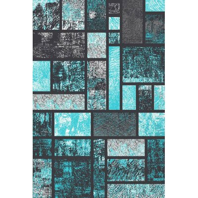 Emmaline Modern Turquoise Area Rug Rug Size: Rectangle 52 x 72