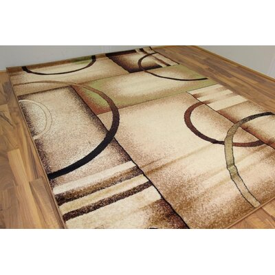 Aguirre Beige Geometric Indoor/Outdoor Area Rug Rug Size: 2 x 3
