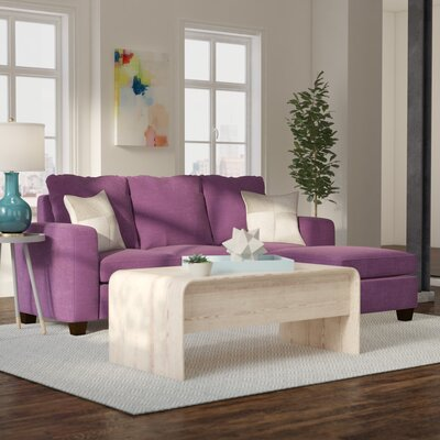 Morpheus Reversible Sectional with Ottoman Upholstery: Purple