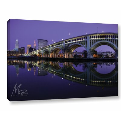 'Purple Cleveland' Photographic Print on Canvas Size: 12