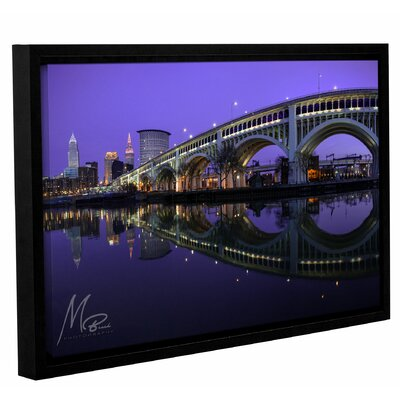 'Purple Cleveland' Framed Photographic Print on Canvas Size: 12