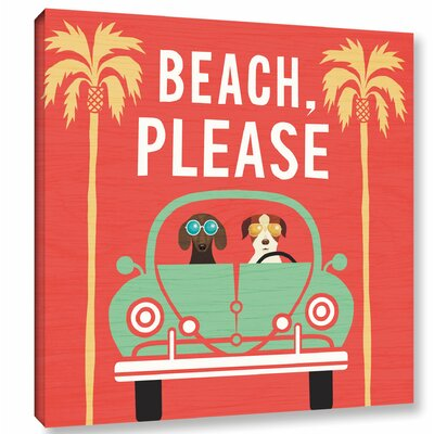 'Beach Bums Beetle I Square' Graphic Art Print on Canvas Size: 10