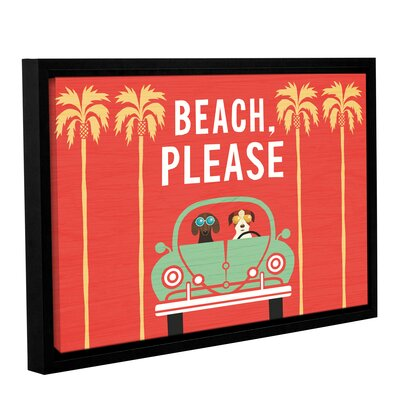 'Beach Bums Beetle I' Framed Graphic Art Print on Canvas Size: 12