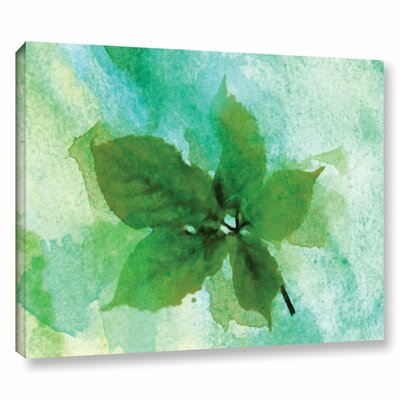 'Summer Leaf II' Print on Wrapped Canvas Size: 14