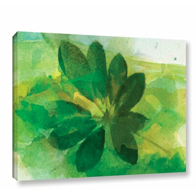 'Summer Leaf I' Print on Wrapped Canvas Size: 14