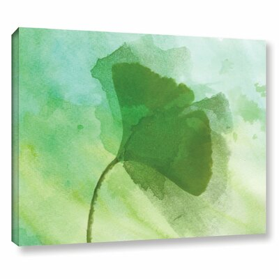 'Summer Leaf III' Print on Wrapped Canvas Size: 14