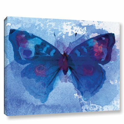'Butterfly Blue Dream' Print on Wrapped Canvas Size: 14