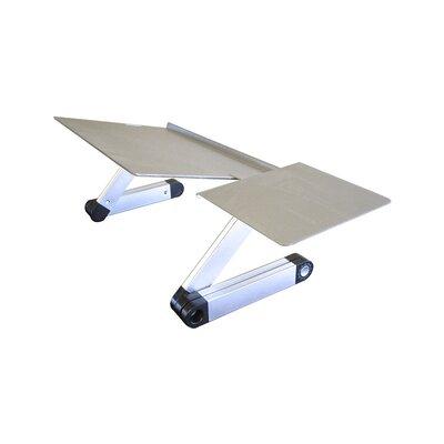 Avery Aluminum Standing Desk Conversion Unit Color: Silver