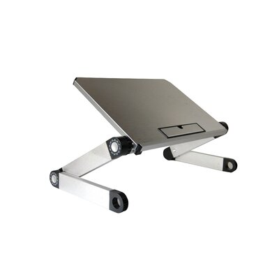 Avery 14 W Standing Desk Conversion Unit Color: Silver