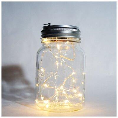Kaidence Mason Jar Pendant Bulb Type: Warm White