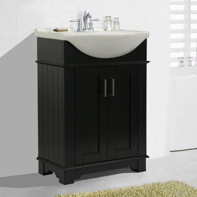 Itzhak 24 Single Bathroom Vanity Set Base Finish: Espresso