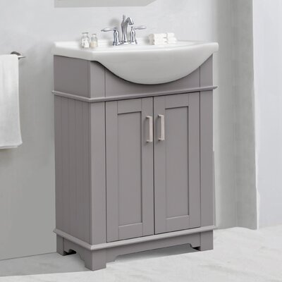 Itzhak 24 Single Bathroom Vanity Set Base Finish: Gray