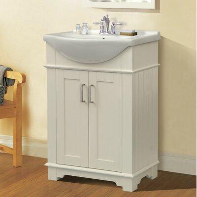 Itzhak 24 Single Bathroom Vanity Set Base Finish: White