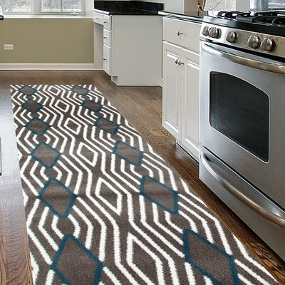 Penny Gray/Blue Area Rug Rug Size: Runner 2 x 72
