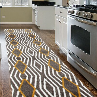 Penny Yellow/Gray Area Rug Rug Size: Runner 2 x 72