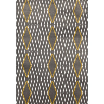 Penny Yellow/Gray Area Rug Rug Size: 53 x 73