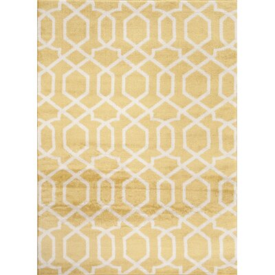 Ryann Yellow Indoor Area Rug Rug Size: 53 x 73