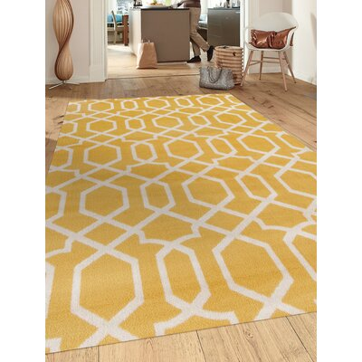 Ryann Yellow Area Rug Rug Size: Rectangle 53 x 73