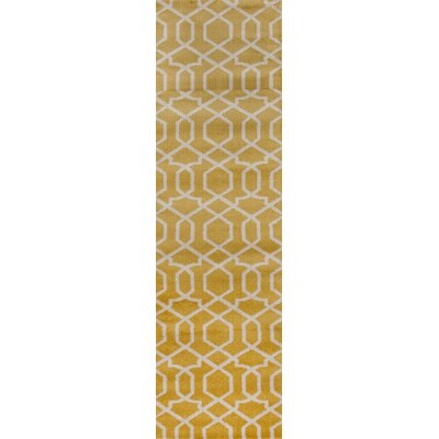 Ryann Yellow Area Rug Rug Size: Runner 2 x 72