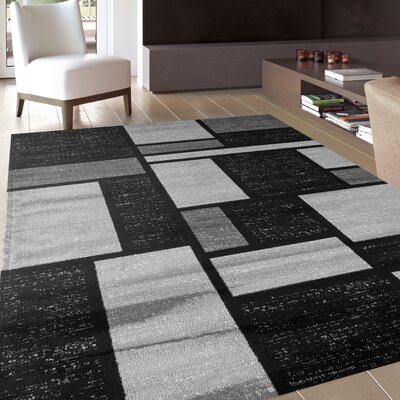 Ryann Gray Area Rug Rug Size: Rectangle 9 x 12