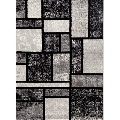 Ryann Gray Area Rug Rug Size: 53 x 73