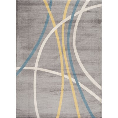 Ryann Machine-Woven Gray Indoor Area Rug Rug Size: 2 x 3