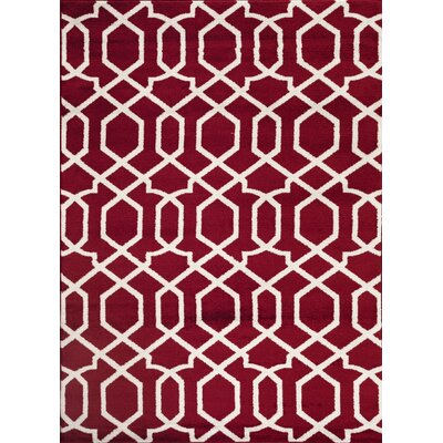 Ryann Red Indoor Area Rug Rug Size: 2 x 3